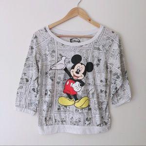 Disney Mickey Mouse 3/4 Sleeve Top